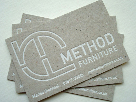Glasgow Press Method Furniture Foiled Business Cards 001