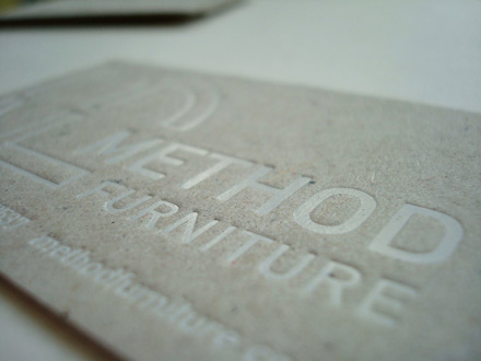 Glasgow Press Method Furniture Foiled Business Cards 002