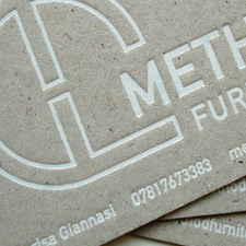 Method Furniture Foiled Business Cards