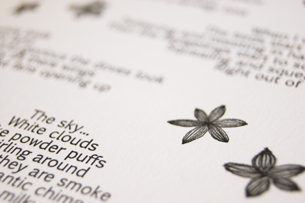 Liquorice Press Dragonfly Letterpress Book 5