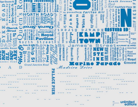 Unlimited Editions Fontmap Blue 1
