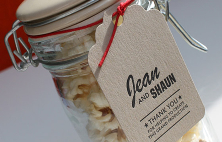 Yield Ink Popcorn Wedding Favour