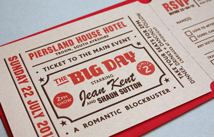 Yield Ink Popcorn Wedding Invite