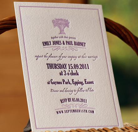 Artcadia Lavender Wedding Invite 2
