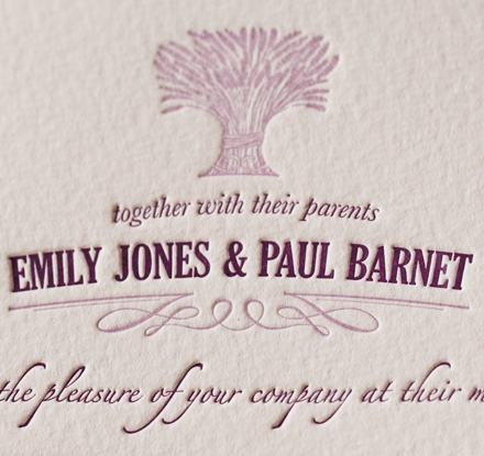 Artcadia Lavender Wedding Invite 4