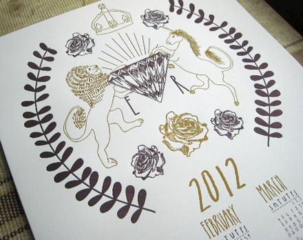 Jubilee Letterpress Calendar 1