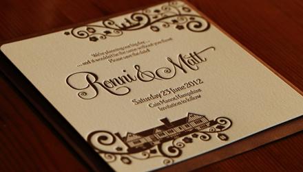 Artcadia Letterpressed Wedding Stationery 1