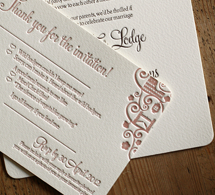 Artcadia Letterpressed Wedding Stationery 2