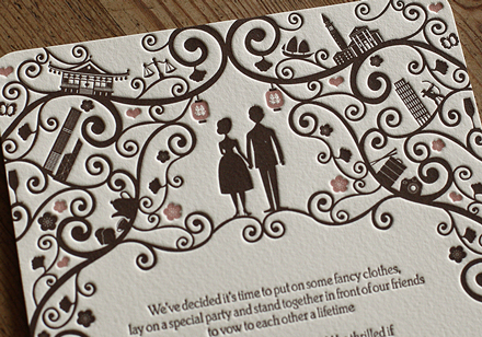 Artcadia Letterpressed Wedding Stationery 3