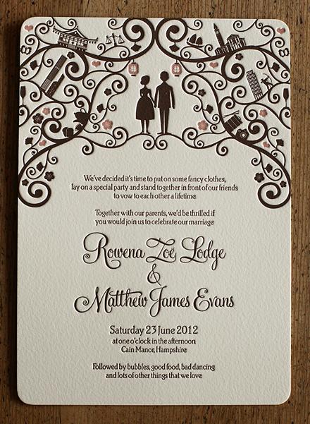 Artcadia Letterpressed Wedding Stationery 4